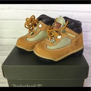 Timberland Toddler Boys Size 4 Field Boots Wheat